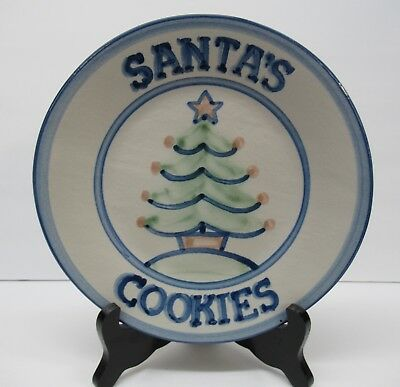 "M A Hadley Cookie Plate Christmas Cookies for Santa Louisville 9"" Made America"