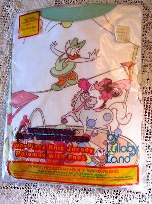 WALT DISNEY PRODUCTION's CHILD'S VINTAGE 1980's PAJAMAS, MINT IN PACKAGE, SZ. 3T