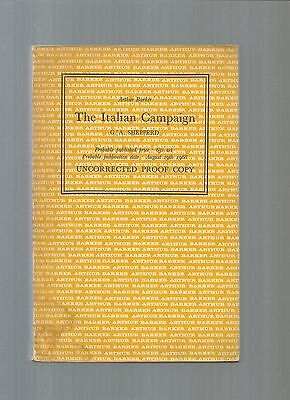 Rare/proof Copy/shepperd/the Italian Campaign/1968/ww2/wwii/army/cassino/anzio