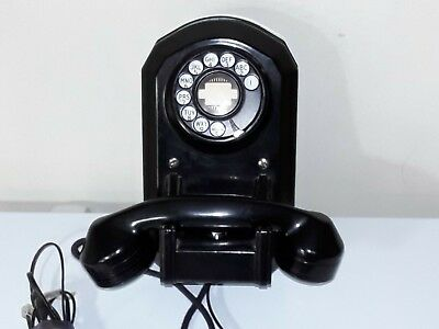 Vintage Wall Mount Rotary Telephone--Works