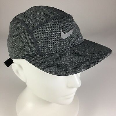 8b431b31d3229 Nike Dri-Fit AW84 5 Panel Hat Cap Adjustable Strapback Running Gray Adult  Unisex