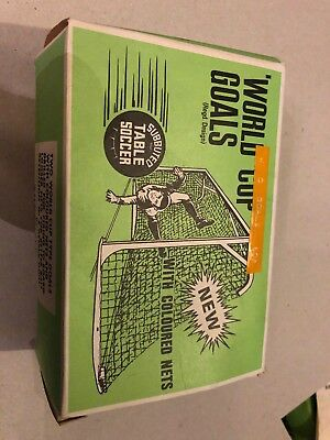 Vintage World Cup Goals Subbuteo Table Soccer (two) Set C.130 in Original Box