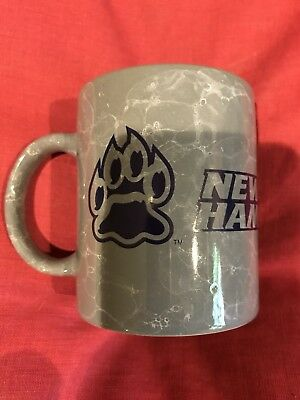 New Hampshire Wildcats Logo 10 oz Ceramic Coffee Mug - Grey Free Shipping USA