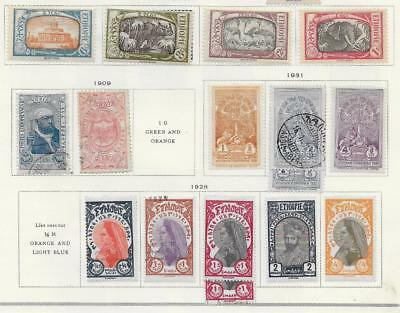 16 Ethiopia Stamps from Quality Old Album 1909-1931