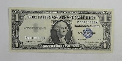 Crisp - 1957-A United States Dollar Currency $1.00 Silver Certificate *989