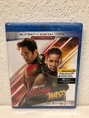 Ant-Man and the Wasp Blu-ray + Digital HD Code Brand New Sealed!!