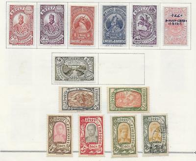 13 Ethiopia Stamps from Quality Old Album 1930-1931