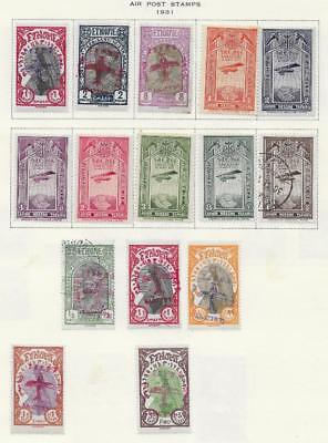 15 Ethiopia Air Post Stamps from Quality Old Album 1931