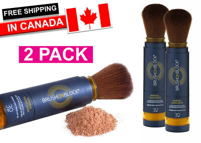 Brush On Block SPF 30 Mineral Powder Sunscreen x 2! (FREE SHIPPING) Total Price