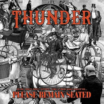 Thunder PLEASE REMAIN SEATED Limited Edition NEW ORANGE COLORED VINYL 2 LP