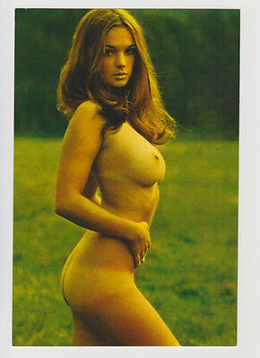 Postcard Pinup Risque Nude Stunning Girl Extremely Rare Photo Post Card 5473
