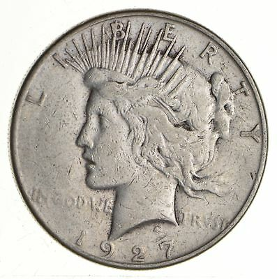 Early - 1927-S - Peace Silver Dollar - 90% US Coin *671