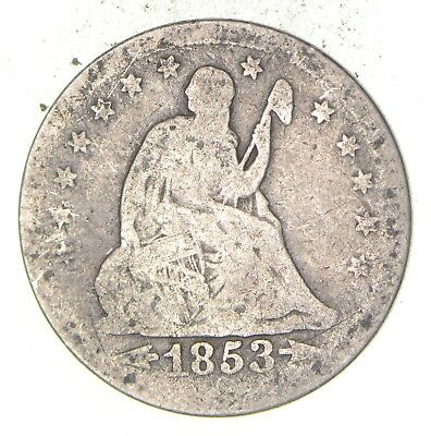 TOUGH - 1853 Seated Liberty Quarter - Early US Type Coin - Historic *152