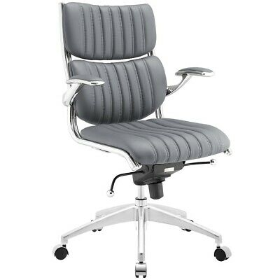 Modway Furniture Escape Mid Back Office Chair, Gray - EEI-1028-GRY