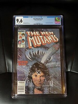 New Mutants #18 CGC 9.6 — White pages — New case — No Reserve