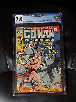 Conan the Barbarian #3 CGC 7.0 — White pages — New case — No Reserve