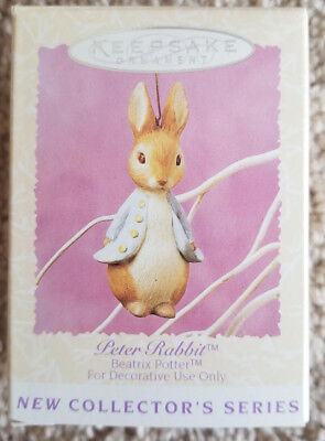 1996 Hallmark Peter Rabbit Easter Ornament. First in the Beatrix Potter Series.