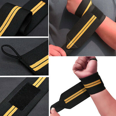 Weight Lifting Wrist Wraps Bandage Hand Support Gym Straps Brace Cotton Band