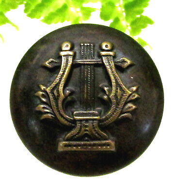 Wonderful Victorian Metal Button W/ Lyre S98