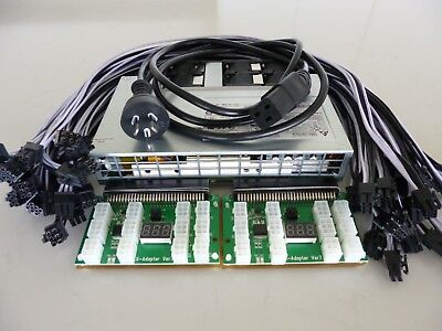 2400 Watt ASIC Miner Power Supply PSU Kit Platinum 94% 240V - AS NEW NEVER USED