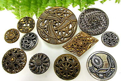Pretty Lot Of Vintage Metal Filigree Twinkle Buttons S32