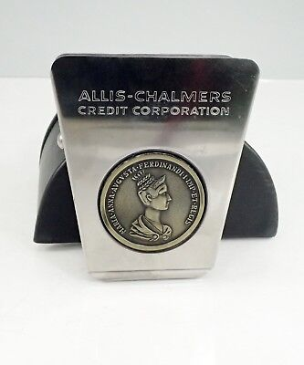 Vintage Allis-Chalmers Credit Corporation Stainless Paperweight Clamp