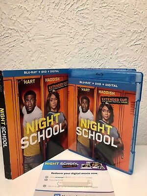 Night School Extended Cut Blu Ray + Digital HD ONLY NO DVD INCLUDED! Please Read