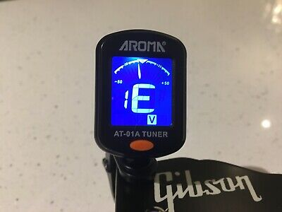 Guitar Tuner Chromatic LCD Clip On Battery Included for Gibson or Fender