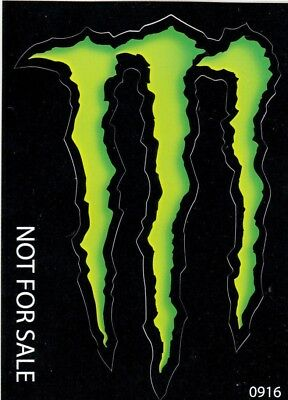 "*NEW* MONSTER ENERGY STICKER 4"" x 3"" GREEN M-CLAW GLOSSY DECAL STICKERS *NEW*"