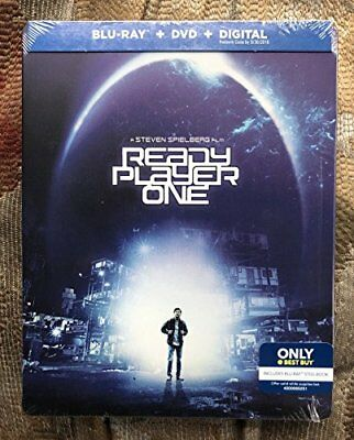 Ready Player One Limited Edition Steelbook (Blu-RayDVD) NEW