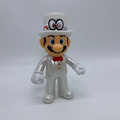 Super Mario Odyssey Mario Figure with Cappy Evening Suit Costume Doll Toy 5""