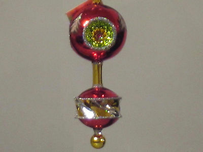 "Cristopher Radko ""Royal Diadem"" Triple Reflector Drop Christmas Ornament"