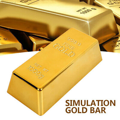 2092 Simulation Paperweigh Bullion Door Stop Fake Gold Bar GST Deluxe Creative