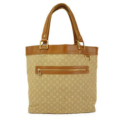 Auth Louis Vuitton Tote Bag Monogram Mini Lucille GM M92683 Beige Brown 5aad6b9565180