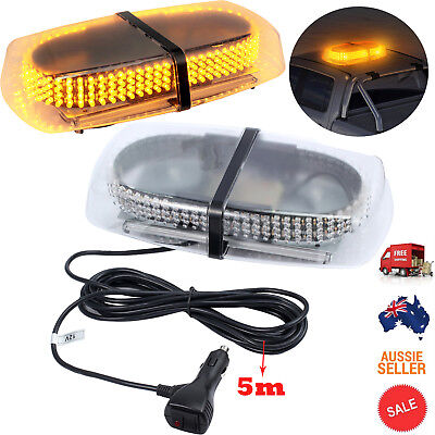 240LED Car Warning Emergency Flashing Strobe Light Bar Amber Beacon & 5m Cable