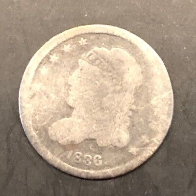 1836 Capped Bust Half Dime, GOOD!