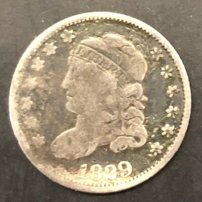 1829 Capped Bust Half Dime, VERY GOOD+