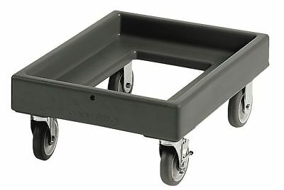 "Cambro 25-5/8"" x 19-3/8"" x 10-3/8"" Polyethylene Food and Beverage Dolly, Black -"