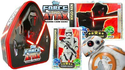 STAR WARS The Force Awakens Force Attax Collector Tin Trading Card Sealed Tin