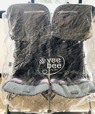Vee Bee Universal Side By Side Wind and Rain Cover for Double Pram raincover