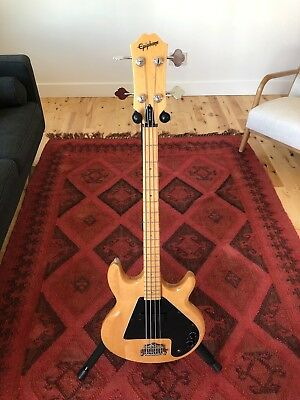 1998 Epiphone The Ripper Natural Maple Finish Vintage 4 String Bass KISS Nirvana