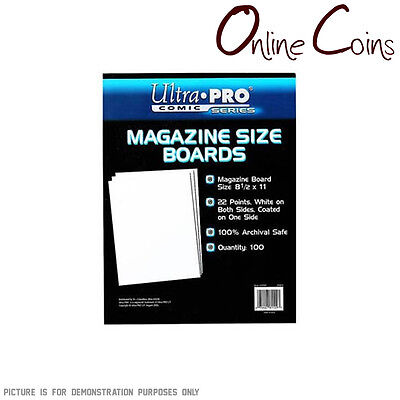 Ultra Pro Comic Series - MAGAZINE Size Comic Backing Boards x 100 - SECONDS