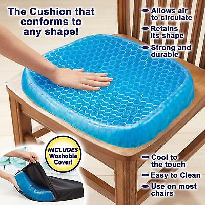 Memory Foam Gel Seat Cushion Orthopedic Support Durable Pillow Pain Relief Chair