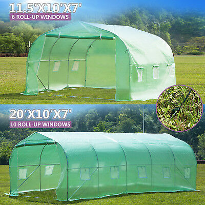 Heavy Duty 11.5'/20'x10'x7' Walk-In Green House Plant Portable Garden Greenhouse