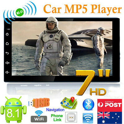 7Inch Android 8.1 Bluetooth Car GPS Navigation Stereo FM Radio WiFi MP5 Player