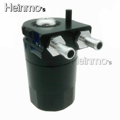 Universal Aluminum Engine Oil Catch Reservoir Breather Tank Can With Fittings