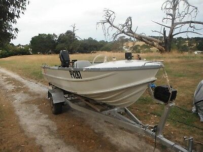 Clark 4.3 with 40 hp evenrude electric start and tilt with trailer