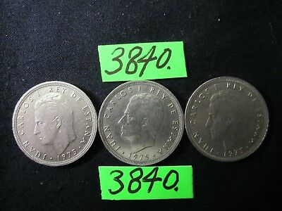 3 x Coins from Spain 50 Ptas. 1978-1980 Mar3840    36 gms
