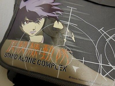 Anime Messenger Bag Ghost in the Shell STAND ALONE COMPLEX Gun-Metal Grey NWT
