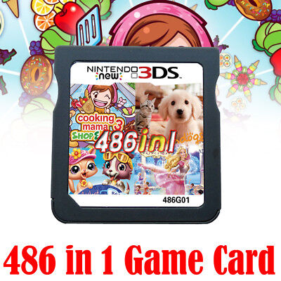 486 in 1 Game Card For Nintendo 2DS 3DS 2DS 3DS 2DSLL 3DSLL Gift AU